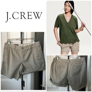 J. Crew Broken in Boyfriend Shorts Size 8